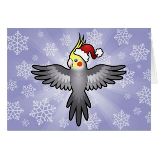 Christmas Cockatiel Greeting Card