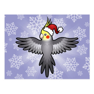 Christmas Cockatiel Postcard