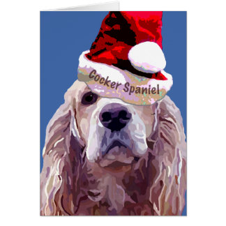 Christmas Cocker Spaniel Card