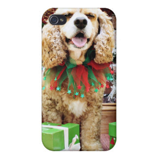 Christmas - Cocker Spaniel - Freckles Covers For iPhone 4