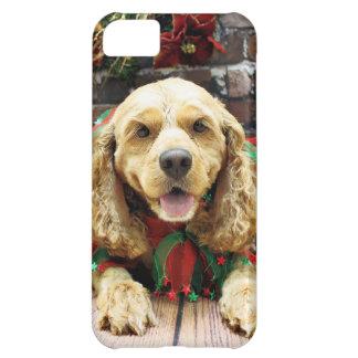 Christmas - Cocker Spaniel - Honey iPhone 5C Covers