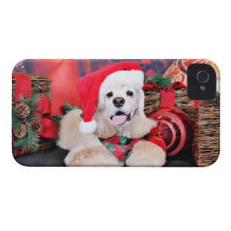 Christmas - Cocker Spaniel - Tobey iPhone 4 Covers