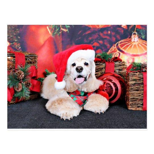 Christmas - Cocker Spaniel - Tobey Postcard