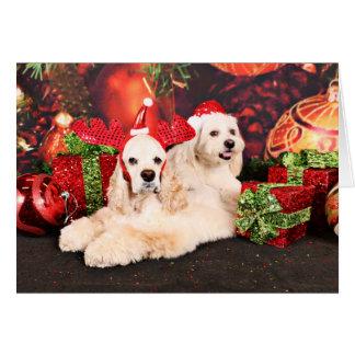 Christmas - Cocker - Toby, Havanese - Little T Card