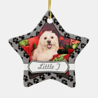 Christmas - Cocker - Toby, Havanese - Little T Christmas Ornament