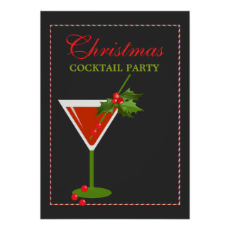 Christmas Cocktail Party Holiday Poster