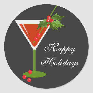 Christmas Cocktail Party Sticker