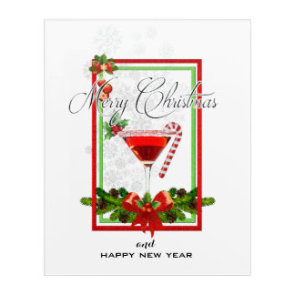 Christmas Cocktail Watercolor Art