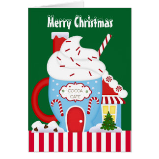 Christmas cocoa cafe greeting card