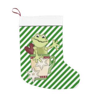 Christmas Coffee frog Holiday stocking