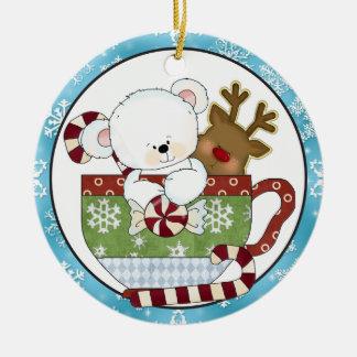 Christmas Coffee Mug Bear ornament