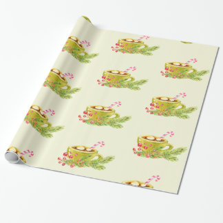 Christmas Coffee Wrapping Paper
