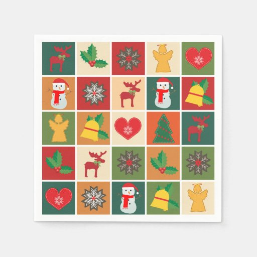 Christmas Collage Disposable Napkin