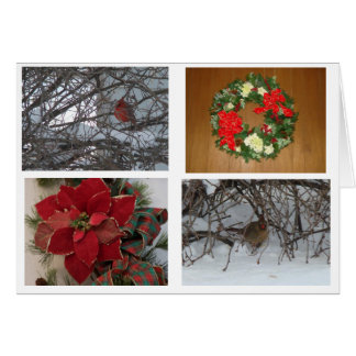 Christmas Collage, Inside and Out Card