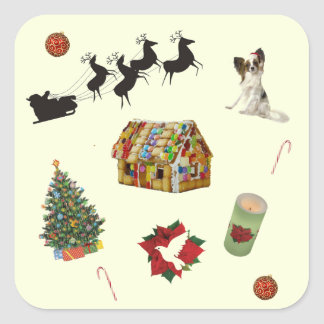 Christmas Collage Square Sticker