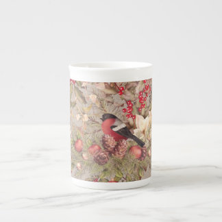 Christmas Collage Tea Cup