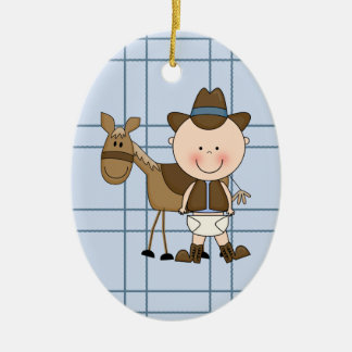 Christmas Collection Baby Cowboy Horse Christmas Ornament