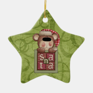 Christmas Collection Bear Santa Christmas Ornament
