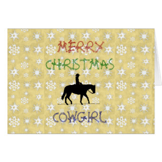 Christmas Collection Cowgirl Horse Greeting Card
