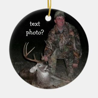 Christmas Collection Deer Hunter Add Photo Christmas Ornament