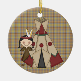 Christmas Collection Native American Indian Girl Christmas Ornament