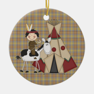 Christmas Collection Native American Indian Horse Christmas Ornament