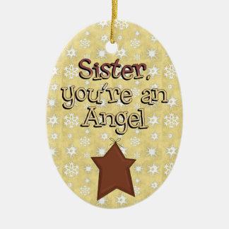Christmas Collection Sister Angel Star Christmas Ornament