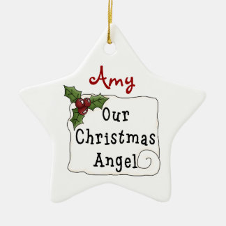 Christmas Collection Star Our Xmas Angel Ornament