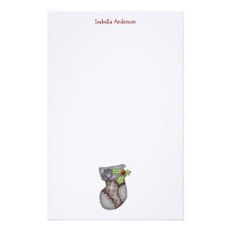 Christmas Collection · Tartan Stocking Custom Stationery