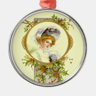 Christmas Collection Vintage Victorian Lady Christmas Ornament