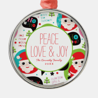Christmas colorful Santa background Christmas Ornament