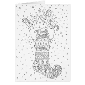 Christmas Coloring greeting card