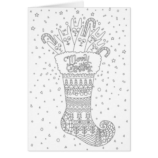 Christmas Coloring greeting card