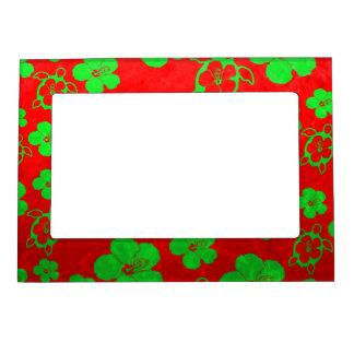 Christmas Colors Hawaiian Honu Magnetic Frame