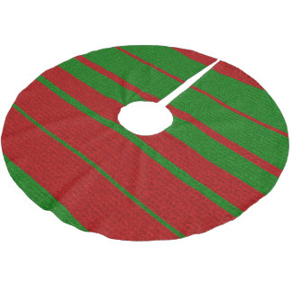 Christmas Colors Knitting Green and Red Holiday Brushed Polyester Tree Skirt