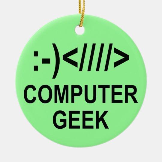 Christmas Computer Geek Christmas Ornament