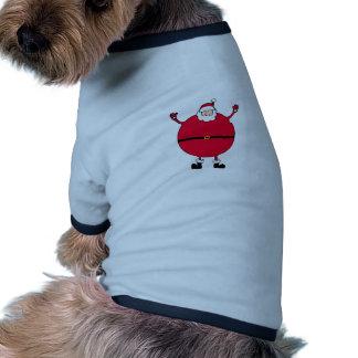 Christmas Concept: Santa arms wide open happly Ringer Dog Shirt