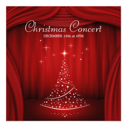Christmas Concert invitation