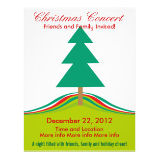 Christmas Concert Simple Holiday Tree Flyer Design