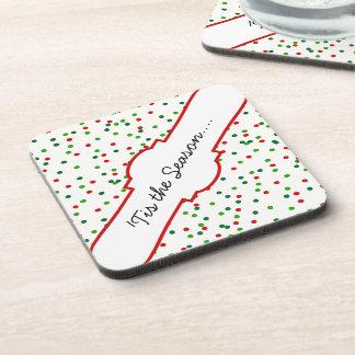 Christmas Confetti • Sugar Cookie Sprinkles Drink Coasters