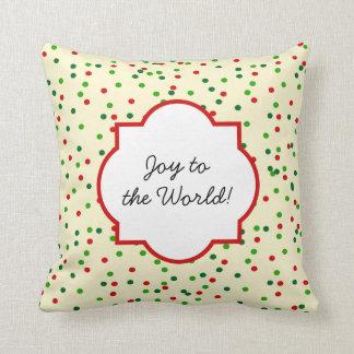 Christmas Confetti • Sugar Cookie Sprinkles Throw Pillow