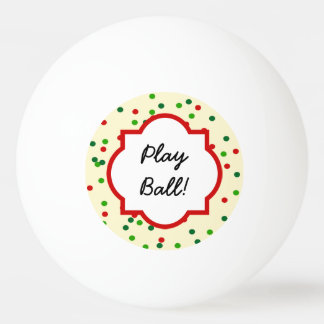 Christmas Confetti • Sugar Cookie Sprinkles Ping Pong Ball
