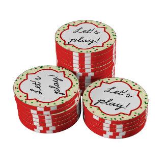 Christmas Confetti • Sugar Cookie Sprinkles Poker Chip Set