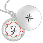 Christmas Confetti • Sugar Cookie Sprinkles Silver Plated Necklace