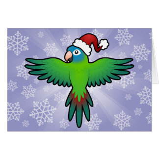 Christmas Conure / Lorikeet / Parrot Greeting Card