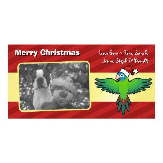Christmas Conure / Lorikeet / Parrot Personalised Photo Card
