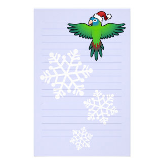 Christmas Conure / Lorikeet / Parrot Stationery Paper