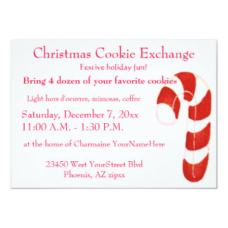 Christmas Cookie Exchange Card