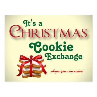 Christmas Cookie Exchange Postcard