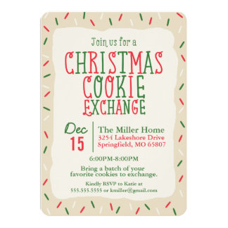 Christmas Cookie Exchange with Sprinkles Card